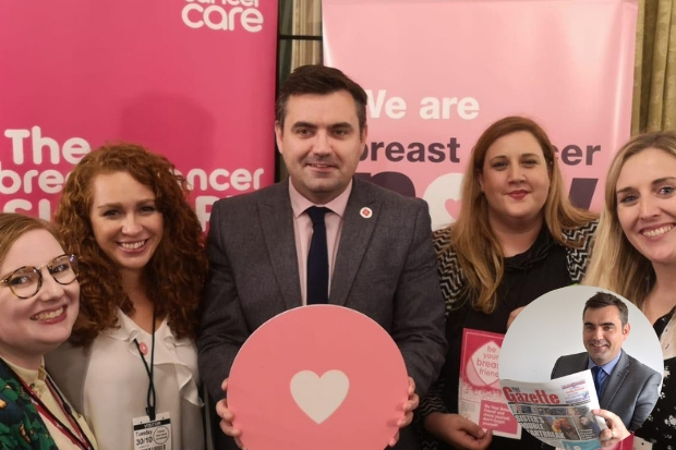 I met with representatives from Breast Cancer Care recently