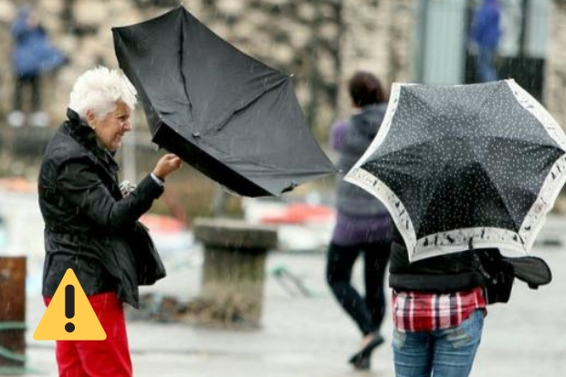 Yellow weather warning issued as high winds and rain expected