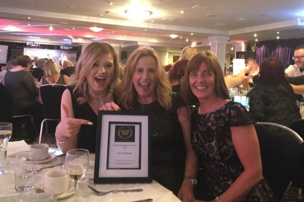 Michelle Adams, Suzanne Brown and Carol Thorne collected their award during a ceremony at the Glynhill Hotel