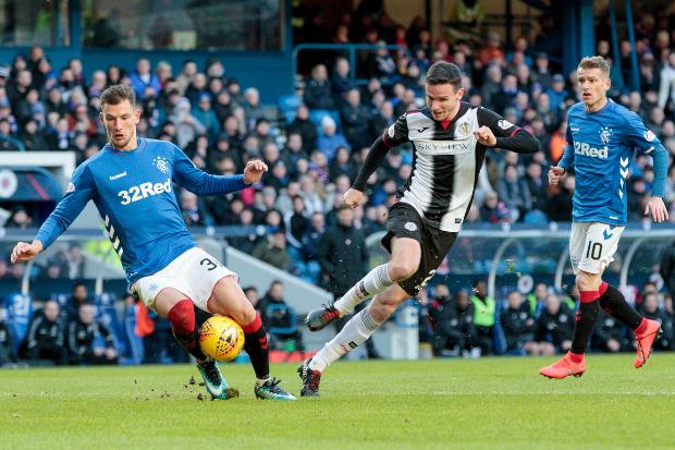 The Gazette: Paul McGinn looking to get the better of Gers defender Borna Barasic