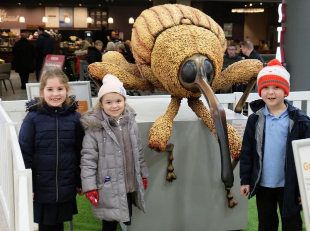 The Gazette: Youngsters from Wallace Primary enjoyed the intu Braehead Big Bugs on Tour display at the shopping mall