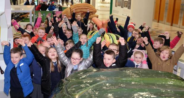 The Gazette: Wallace Primary 3 pupils visited the Big Bugs on Tour display at intu Braehead