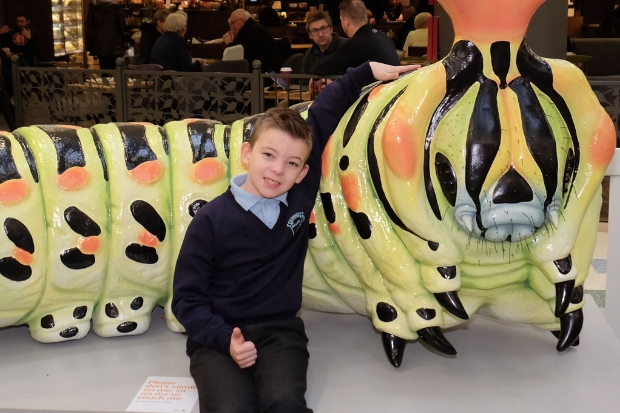 Wallace Primary pupil Max Belshaw, aged seven, won the intu Braehead Big Bugs on 'tour contest