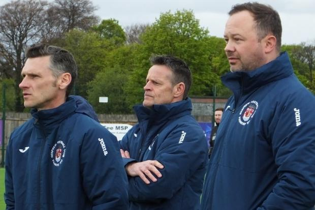 Martin Ferry (centre) hopes his side will finally beat their 'bogey side' on Saturday