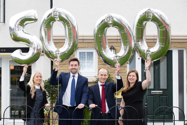 Louise Dunn, marketing manager, Andrew Duncan, land director, Gordon Craig, finance director and Liana Canavan, sales and marketing manager of CALA Homes (West).
