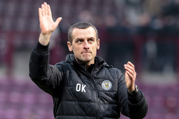 Oran Kearney insists St Mirren's future is in their hands (photo: Allan Picken)