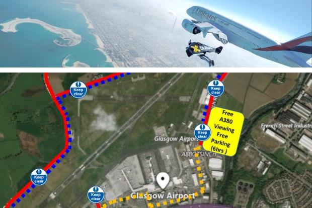 All the restrictions around Glasgow Airport as world's largest passenger plane flies into city