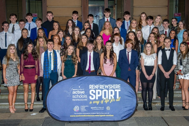 Graduates of Renfrewshire School of Sport Education at Paisley Abbey