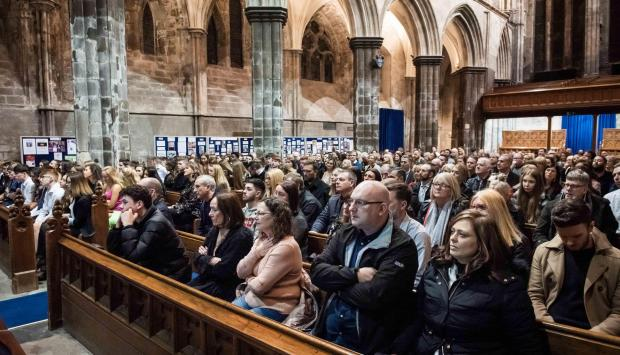 The Gazette: Family and friends packed into Paisley Abbey for the ceremony