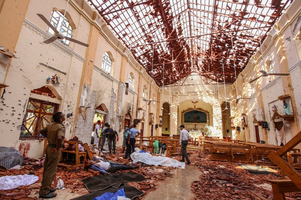 St Sebastian's Church, in Negombo, was among the targets of terror