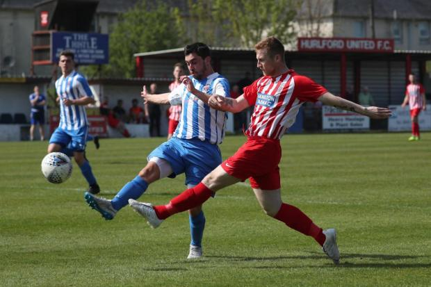 The Gazette: Frew unable to find a way back into after falling behind in the opening 15 minutes (Photo: Stewart Attwood)