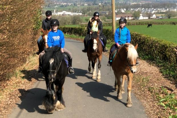 Johnstone riders saddle up to give Comic Relief a boost