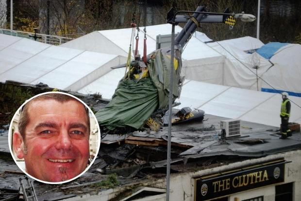 Helicopter pilot Dave Traill was from Lochwinnoch