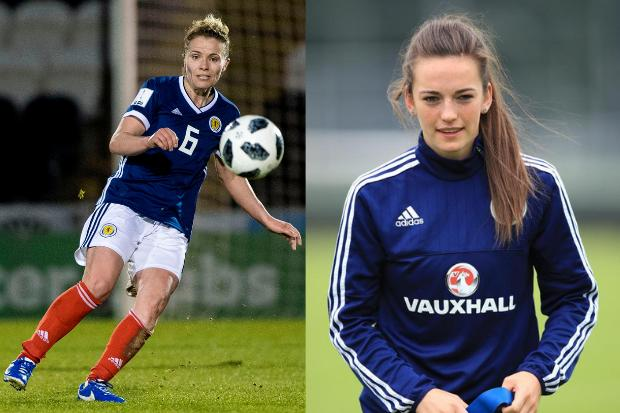 Jo Love, left, and Chloe Arthur, right, selected in Shelley Kerr's 23-strong squad set for France
