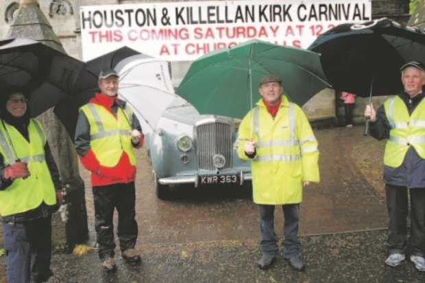 Residents stayed dry at the carnival
