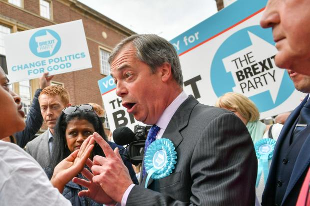 The Gazette: It is predicted that many leave voters will switch from the Tories to Nigel Farage's Brexit Party