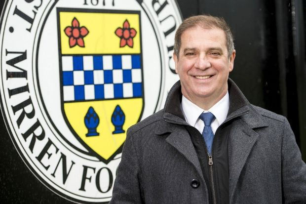 Tony Fitzpatrick in with the bricks at St Mirren