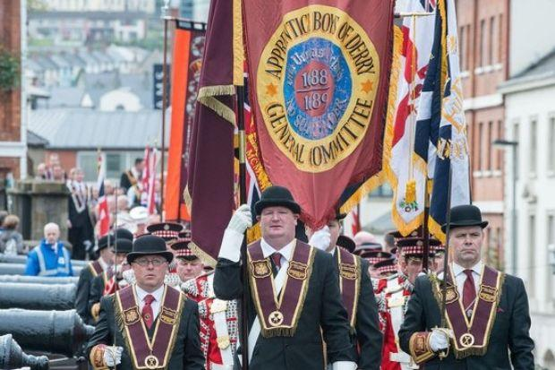 The procession has been organised by the Apprentice Boys of Derry