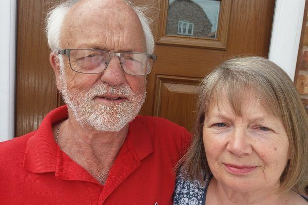 Steve and Diane Ball have told of their frightening ordeal