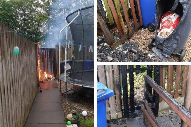 Probe launched after bin set alight at Johnstone house