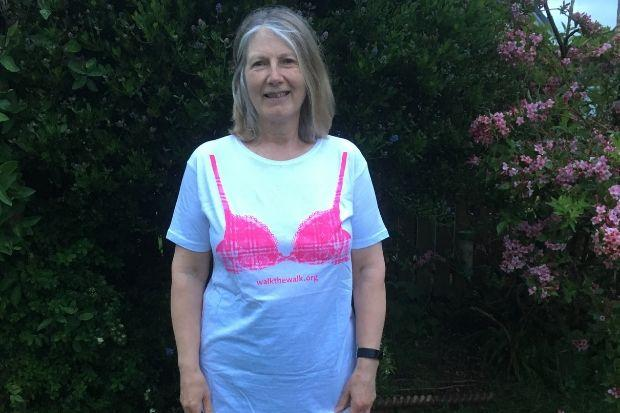 Helen strides forward to support breast cancer charity