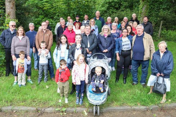 Protestors gathered at Teucheen Woods in Inchinnan in a bid to save the site from auction